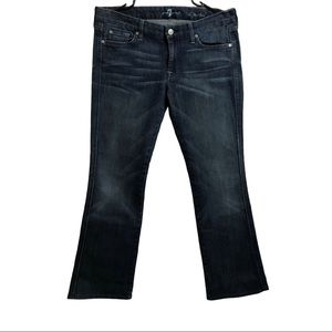 7 For All Mankind A Pocket Blue Flared Jeans 31